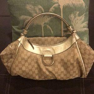 💖SPECIAL AUTUMN SALE!  Authentic & Vintage Gucci D ring abbey shoulder hobo bag